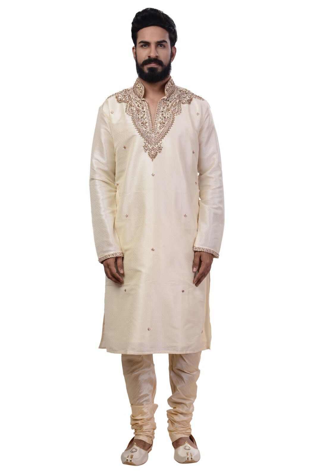 Ethnic Indian Design Kurta Sherwani for Men 2pc Suit's (Worldwide Postage)