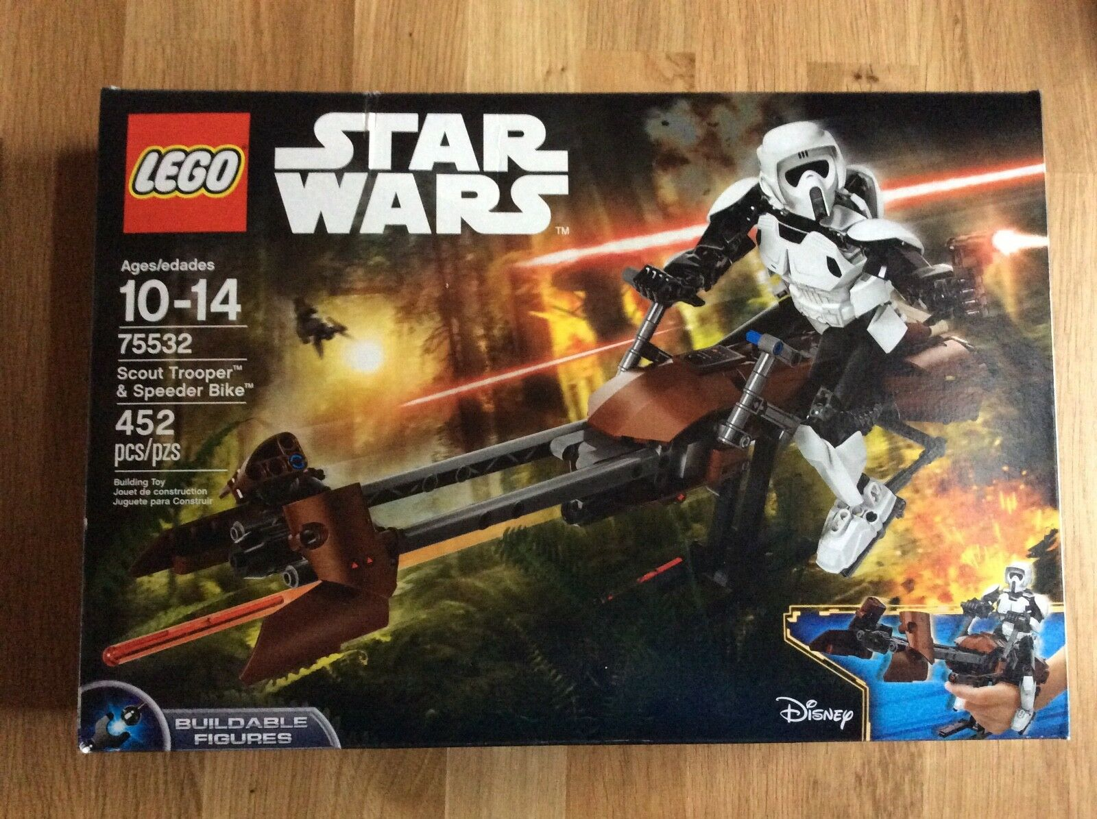 Nouveau  Lego Star Wars Set 75532 SCOUT TROOPER et SPEEDER BIKE superposée Figure  vente directe d'usine