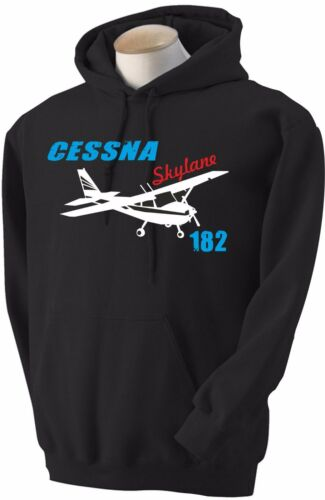 Felpa Cessna 182 Skylane Hoodie sweatshirt Airplane aeronautica aereo hoody