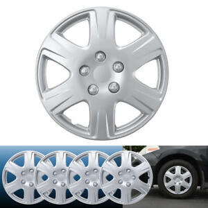 4PC-Set-15-inch-Silver-Hubcap-Wheel-Cover-OEM-Replacement-Full-Lug-Skin-Durable