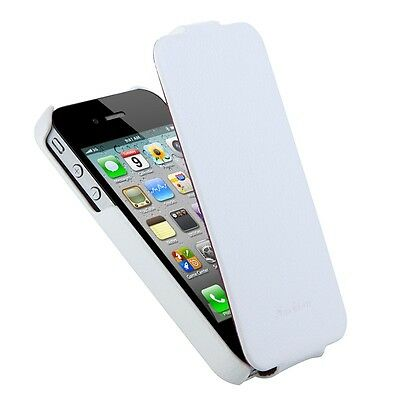 Real Genuine Leather Flip Case Cover Fashion Luxury for iPhone 4 4S Multi-Color