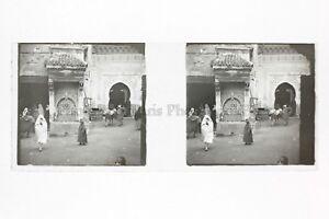 Marocco Algeria Maghreb Placca N71 Da Lente Stereo Positive Vintage 45x105mm