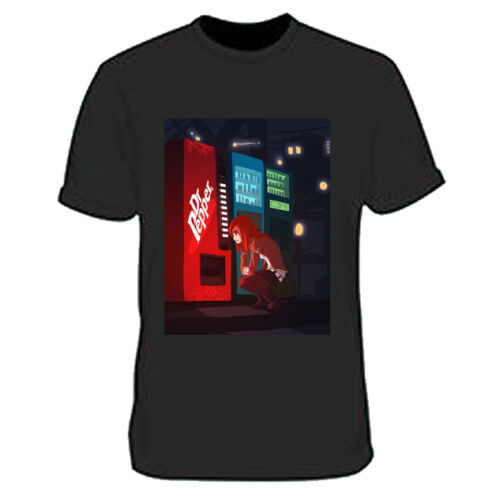 Dr Pepper Steins Gate T-Shirt Tee Black New Men/'s Tshirt