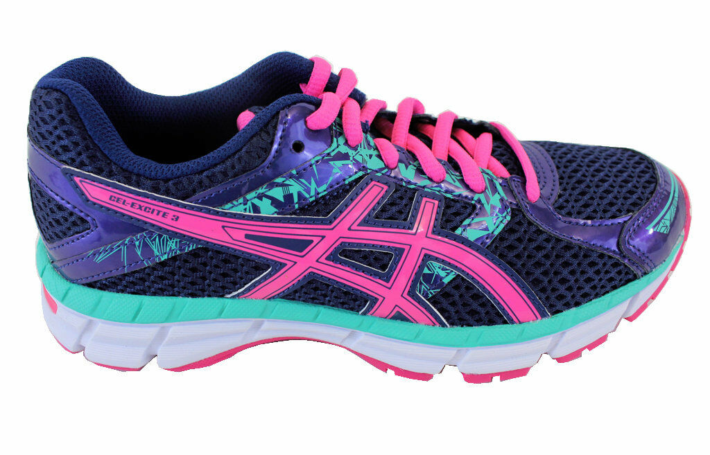 ASICS GEL-Excite 3 Patriotic Bleu / Knockout Rose / Mint Femme Running Chaussures