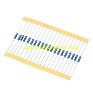 100pcs-1-2W-0-5-Watt-Metal-Film-Resistor-1-1M-1K-910K-ohm