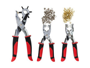 Punch Hole Pliers by Powerfix-Heavy Duty-Revolving-3 Set with Eyelets Press Stud