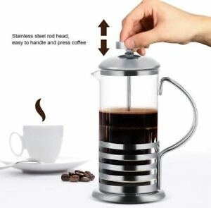 Coffee-Plunger-Pot-French-Press-Filter-Jug-Tea-Maker-Steel-Glass-Cafetiere-350ml