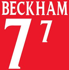 England Beckham 2002 Nameset Shirt Soccer Number Letter Heat Print Football A