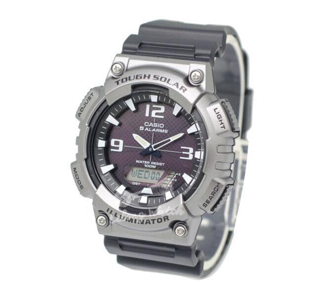 -Casio AQS810W-1A4 Analog Digital Tough Solar Watch Brand New & 100% Authentic