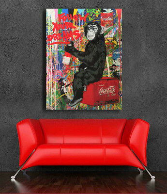 Follow Your Dreams  Urban Art  Canvas Print Street art Poster Mural 36 x 24