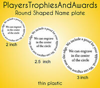 Round Shaped Name Plate Personlized Custom Circle Nameplate Choice Of Sizes