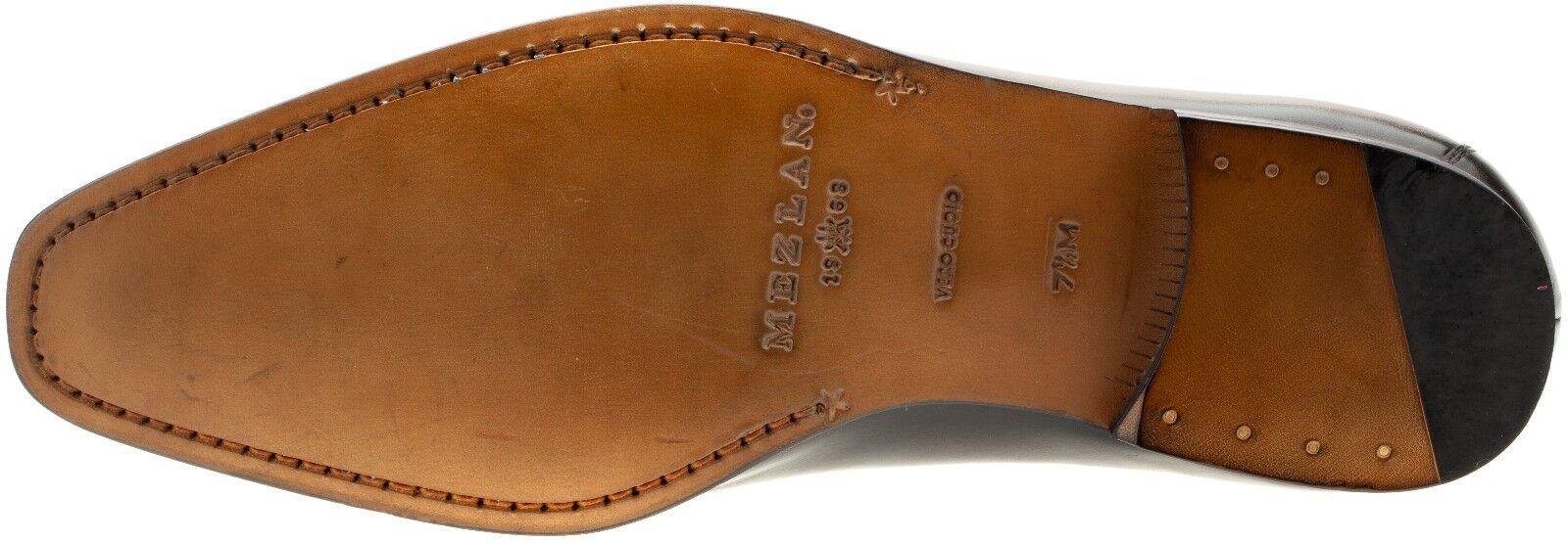 Mezlan Hombre Cuero Negro 16098 Sin Cordones Cordones Cordones Mocasín Zapato de vestido 7990c7