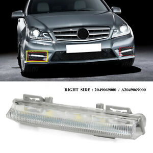 Front-Right-Bumper-DRL-Fog-Light-For-Mercedes-Benz-W204-W212-R172-C250-C280