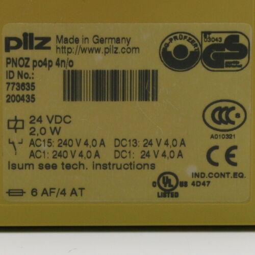 Pilz pnoz po4p 773635 módulo de extensión