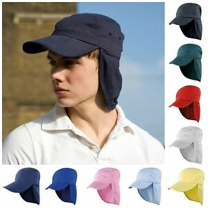 Mens Womens Ladies Sun Legionnaire Hat Cap Neck Flap Protection Kepi ... a854fa3d323