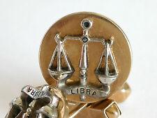 Rare Vtg SWANK LIBRA Scales Balance Silver Gold Tone Cuff Links Astrology