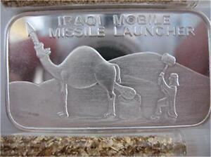 1 Oz 999 Pure Silver Iraqi Mobile Missile Launcher
