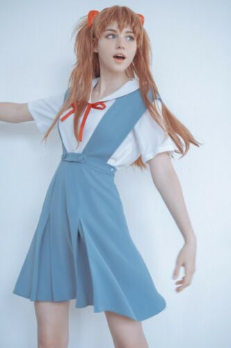 Asuka Langley Rei Ayanami Cosplay Uniform Dress EV