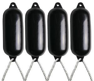 4-X-Majoni-Black-Boat-Fenders-Deflated-Size-5-Free-Rope