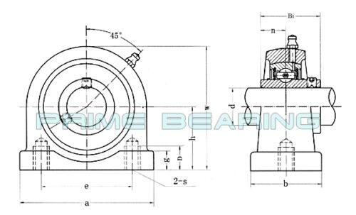 1-1//4Tapped Base Pillow Block Bearing UCTB207-20