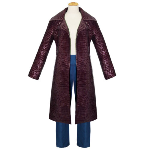 Jared Leto Joker Costume Suicide Squad Cosplay Trench Coat Jacket Pants Outfit