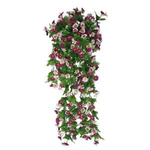Artificial-Daisy-Vine-12-Branches-False-Silk-Daisy-Vine-Wisteria-Hanging-Flower