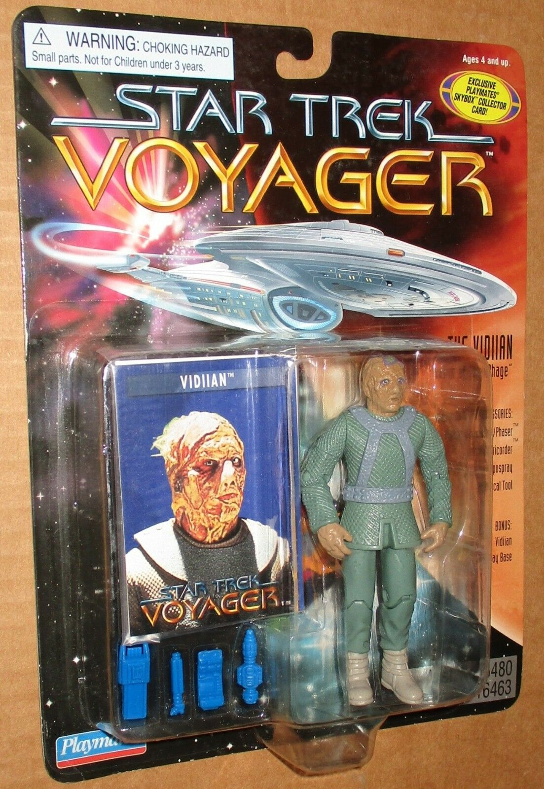 000002 Estrella Trek Voyager bajo número de la tarjeta figura Moc 1996 Jugarmates