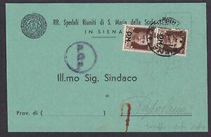 coppia-30c-bruno-P-M-su-cartolina-1945-da-Siena-per-Rapolano