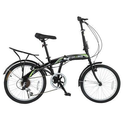 """Stowabike 20"""" Folding City V3 Compact Foldable Bike - 6 Speed Shimano Gears"""