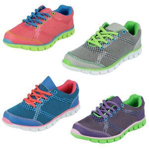 Reflex-Garcon-Fille-Chaussures-a-Lacets-Decontracte-Maille-Unisexe-Sport