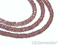 "16"" PURPLE SAPPHIRE 3mm Faceted Rondelle Beads AAA NATURAL /ps2"