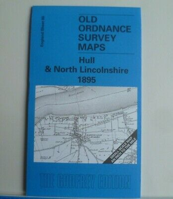 OLD ORDNANCE SURVEY MAP HULL NORTH LINCS 1895 NEW HOLLAND SOUTH CAVE ULCEBY
