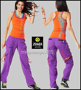 Zumba Fitness 2 Piece Set Women's Clothing Activewear Cargo Cargos Capri Pants & Top Racerback Rare S & M To Prevent And Cure Diseases