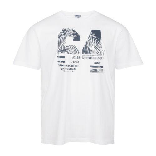 XXL érable T-shirt print Blanc 2xl 3xl 4xl 5xl 6xl 7xl 8xl 10xl Grandes Tailles Neuf