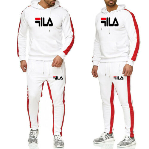New Men/'s Casual Wear Printing Suit Men/'s Hooded Sweater Wei Pants Sports Suit