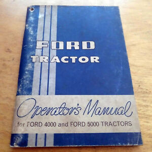 ford   tractor operators owners manual