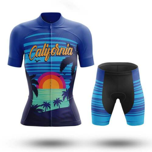 Cool California Summer Women/'s Cycling Jersey /& Shorts Set