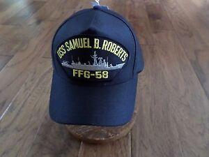 434da485768 USS SAMUEL B. ROBERTS FFG-58 NAVY SHIP HAT U.S MILITARY OFFICIAL ...