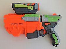 Nerf Vortex Vigilon Disc Gun Blaster Launcher Hasbro 2010 With SCOPE