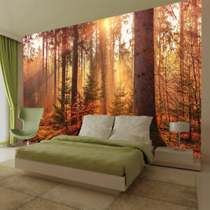Details about Tree Plant Light Wall Mural Forest Photo Picture Wallpaper  Bedroom Decoration