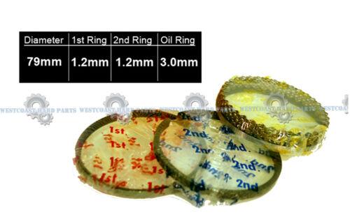 00-08 Toyota Celica Matrix 1.8L 1ZZFE DOHC PISTON RINGS MAIN ROD BEARINGS