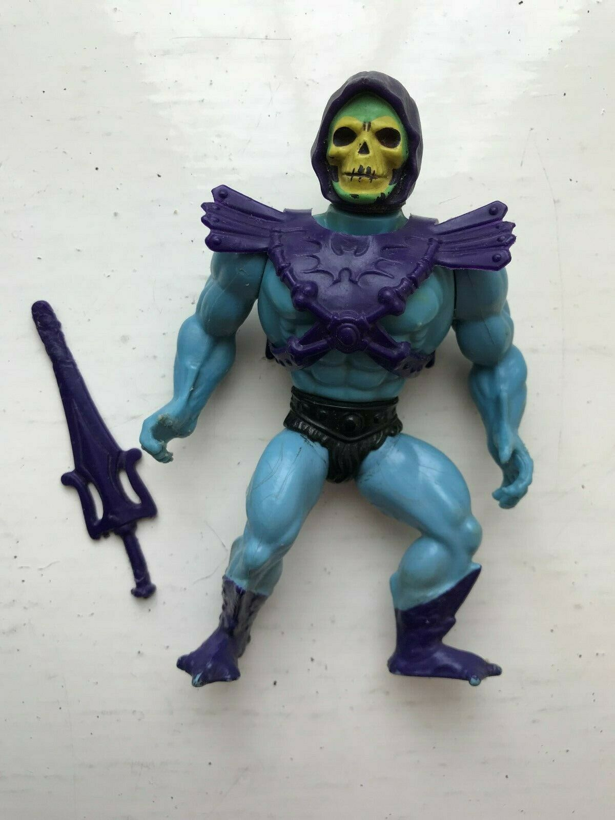 80S MATTEL HE-MAN MOTU MASTERS OF THE UNIVERSE SKELETOR FIGURE + ACCESSORIES