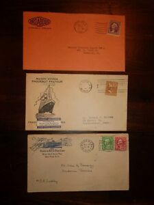 3-Advertising-Covers-Lot-NEW-YORK-Hudson-River-Line-PAQUEBOT-PASTEUR