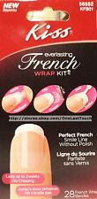 KISS 28 EVERLASTING FRENCH WRAP Kit/Set BRUSH-ON GEL Glue+Base/Seal #56682 1/2