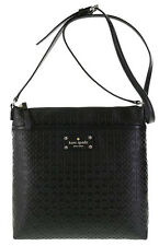 NWT Kate Spade Keisha Penn Place Embossed Leather Crossbody Bag Messenger Black