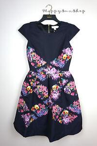 d9fe7c57a Ted Baker New Season Girley Lost Gardens Skater Dress Black Ted 1 ...