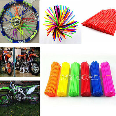 72X Wheel Spoke Wraps Covers Rims Skins Guard Protector Motocross MX Enduro UK