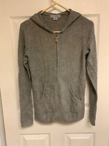 Barefoot Dreams Cozychic Lite Women/'s Zip-Up Hoodie-Carbon-XS-A293851-NEW