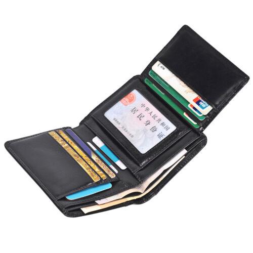 Men/'s Genuine Leather Wallet ID Card holder Bifold Coin Purse Pocket Money Clip