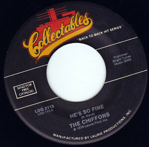 THE-CHIFFONS-He-039-s-So-Fine-7-034-45